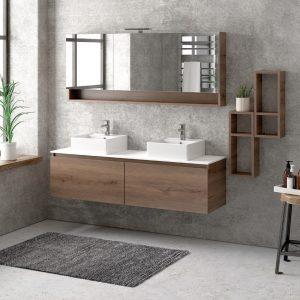 Έπιπλο μπάνιου Karag Space Brown 155