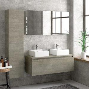 Έπιπλο μπάνιου Karag Space Grey 120