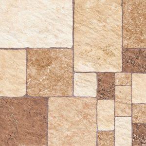 Πλακάκι Πέτρα Εξωτερικού Χώρου Keros Leon Cuero 33x33