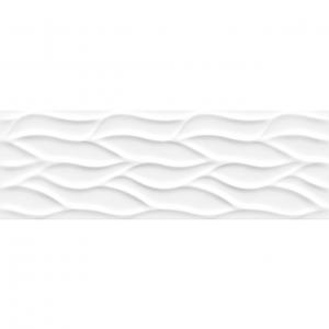 Keros White Mate Hojas 25x75 Πλακάκι Μπάνιου Λευκό Ματ