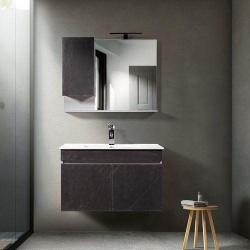Έπιπλο μπάνιου απο κόντρα πλακέ και φυσική πέτρα
