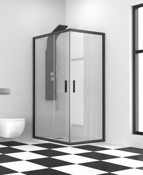 Μαύρη καμπίνα μπάνιου
