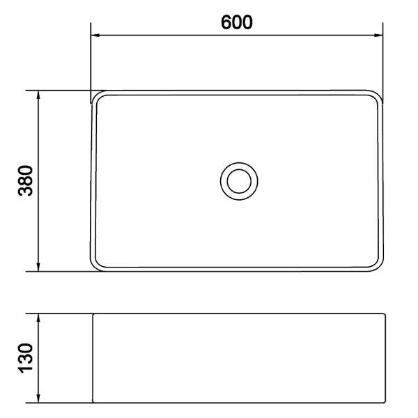 Επιτραπέζιος Νιπτήρας Μπάνιου Olympia Linea LIL4260001