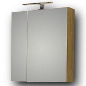 Omega 60x65 - Καθρέπτης μπάνιου Beige Oak