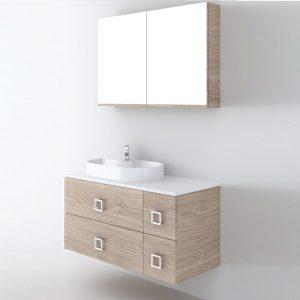 Orabella Solid Surface 100 Έπιπλο Μπάνιου Με Συρτάρια