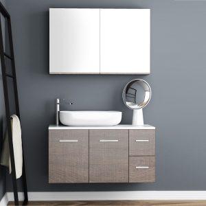 Έπιπλο Μπάνιου Με Επιτραπέζιο Νιπτήρα Orabella Solid Surface 100