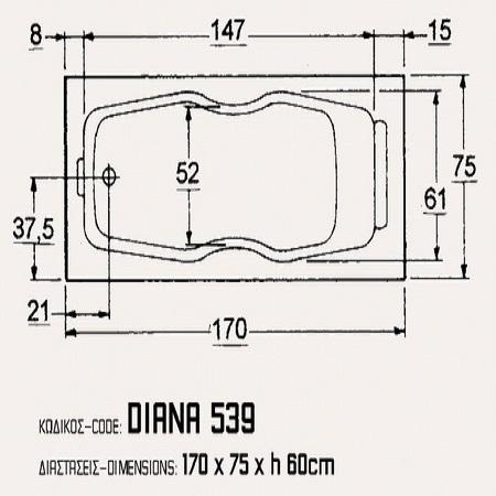 Sanitec Diana 170 x 75