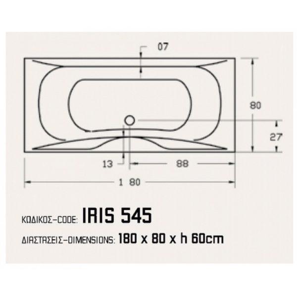 Sanitec Iris 180 x 80