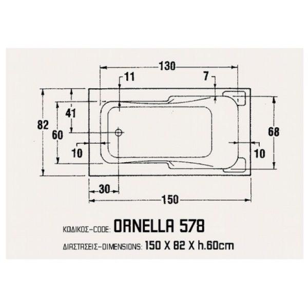 Sanitec Ornella 150 x 82
