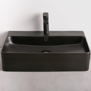 Μαύρος Νιπτήρας Μπάνιου Strata Black Matt