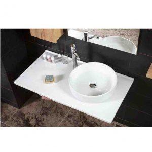 Tavla 105 White Πάγκος Μπάνιου Από Πορσελάνη