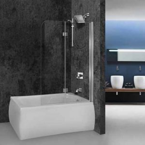 Πτυσσόμενο Διαχωριστικό Μπανιέρας Aquarelle Bathtub Fresh 2