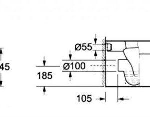 Λεκάνη δαπέδου cb1060