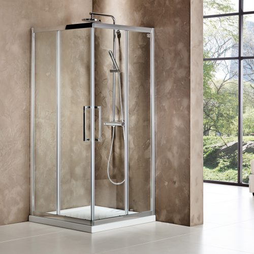 Devon Primus Plus Corner Entry CR Clean Glass Τετράγωνη Καμπίνα