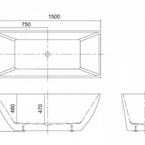 Μπανιέρα Ελεύθερης Τοποθέτησης K 1505