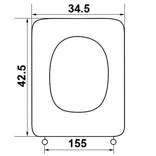 kalyma lekanis ideal standard conca polyesteriko