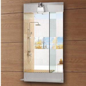 Karag 28081 Καθρέπτης Μπάνιου Με Εταζέρα Και Φωτιστικό