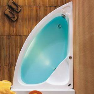 Ασύμμετρη μπανιέρα 125 x 90 Δεξιά