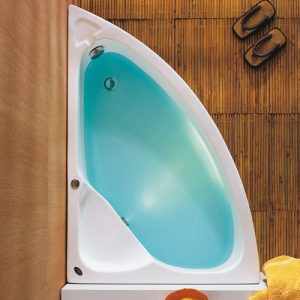 Ασύμμετρη μπανιέρα Konchili 125 x 90 Αριστερή