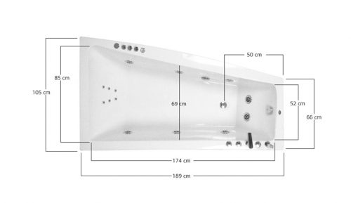 Acrilal Konchili 190 x 105 διαστάσεις