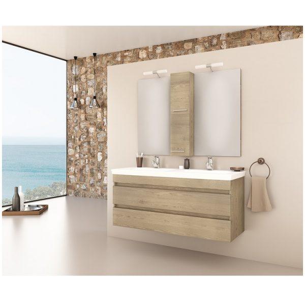 Luxus 120 Wood Έπιπλο μπάνιου κρεμαστό