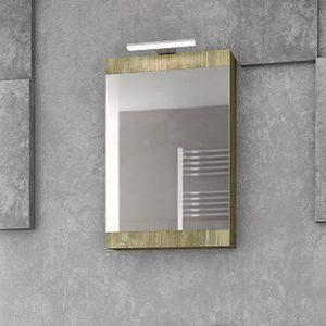 Καθρέπτης - ντουλάπι Magnolia 40 gold