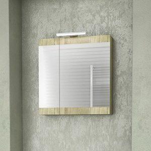 Καθρέπτης - ντουλάπι Magnolia 55 gold