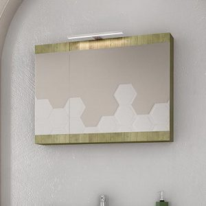 Καθρέπτης - ντουλάπι Magnolia 75 Gold