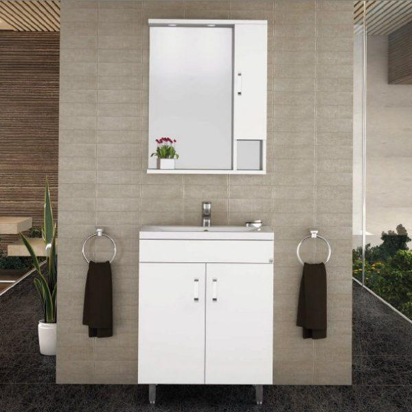 Militos 60 white - έπιπλο μπάνιου