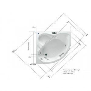 Acrilan Mykonos 105 διαστάσεις
