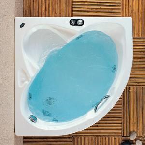 Γωνιακή μπανιέρα Acrilan Mykonos 105 x 105