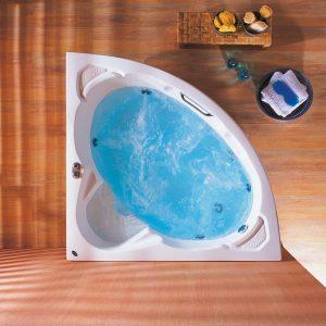Γωνιακή μπανιέρα υδρομασάζ Acrilan Mykonos 145 x 145