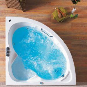 Γωνιακή μπανιέρα 125 x 125 Mykonos Acrilan