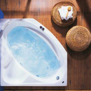 Γωνιακή Μπανιέρα Υδρομασάζ Acrilan Oasis 130