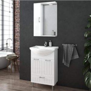 Έπιπλο μπάνιου Drop Ritmo 55 White