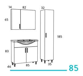Siena 85 έπιπλο μπάνιου