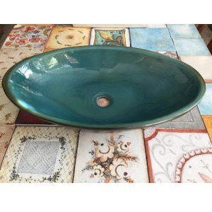 Επιτραπέζιος Νιπτήρας Χειροποίητος Turquoise 60